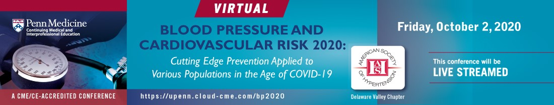 Blood Pressure and Cardiovascular Risk 2020: Cutting Edge Prevention Applied to Various Populations in the Age of COVID-19 Banner