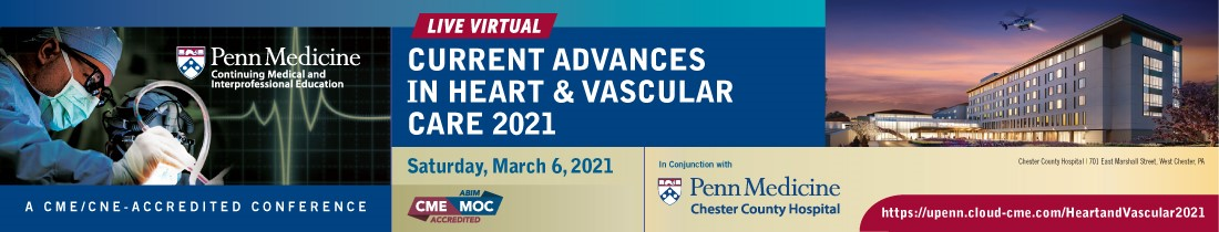 Current Advances in Heart and Vascular Care 2021 Banner