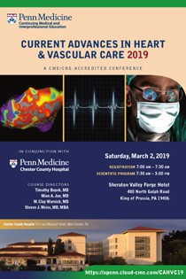 Current Advances in Heart & Vascular Care 2019 Banner