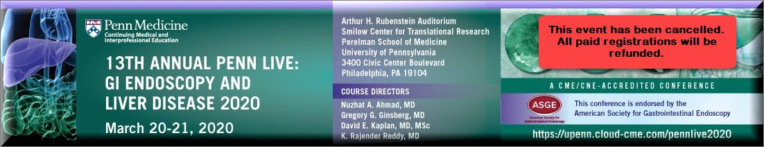 13th Annual Penn Live: GI Endoscopy and Liver Diseases 2020 Banner