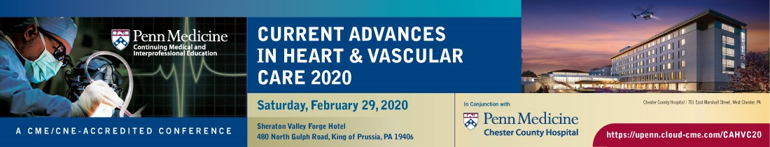 Current Advances in Heart and Vascular Care 2020 Banner
