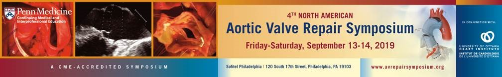 4th North American Aortic Valve Repair Symposium 2019 Banner