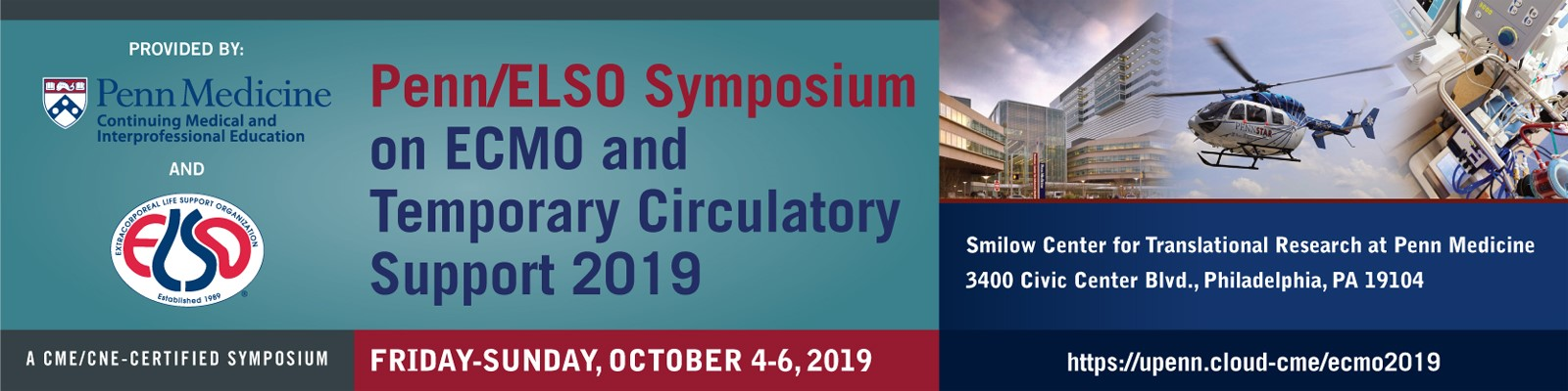 Penn/ELSO Symposium on ECMO and Temporary Circulatory Support Banner