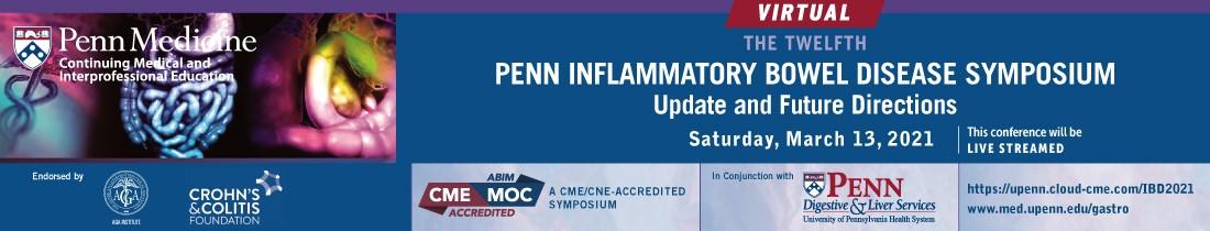 12th University of Pennsylvania Inflammatory Bowel Disease Symposium: Virtual Edition Banner