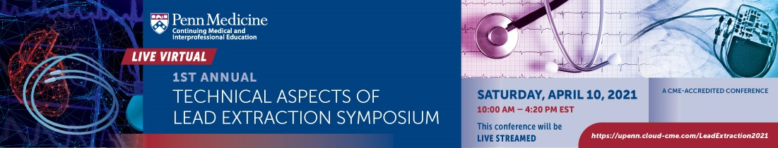 1st Annual Technical Aspects of Lead Extraction Symposium Banner
