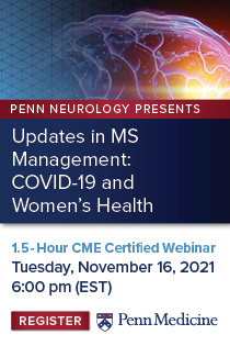 Updates in MS Management: COVID-19 and Women's Health Banner