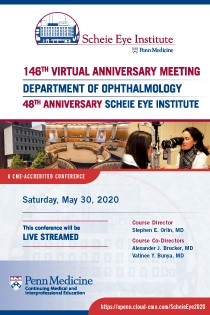 146th Anniversary Meeting 48th Anniversary Scheie Eye Institute Banner