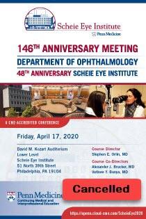 146th Anniversary Meeting 47th Anniversary Scheie Eye Institute Banner