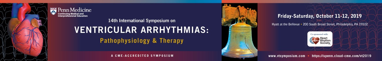 14th International Symposium on Ventricular Arrhythmias: Pathophysiology & Therapy Banner